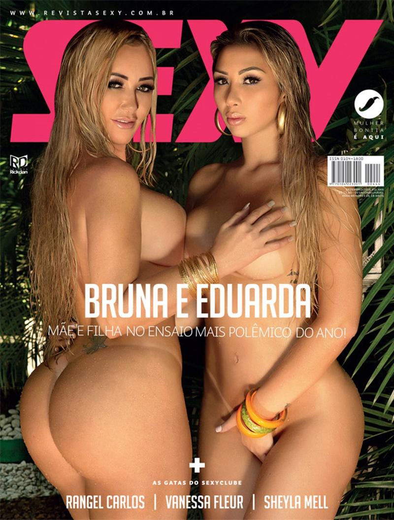 Sexy Bruna e Eduarda mãe e filha muito gostosas peladas safadinhas na Revista Sex
