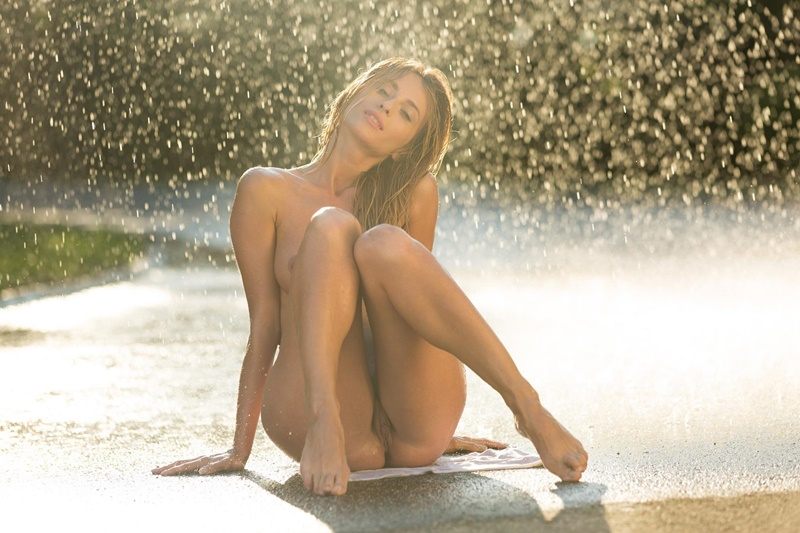 Cara Mell Gets Wet Wild And Naked At The Beach Playboy Empflix 1