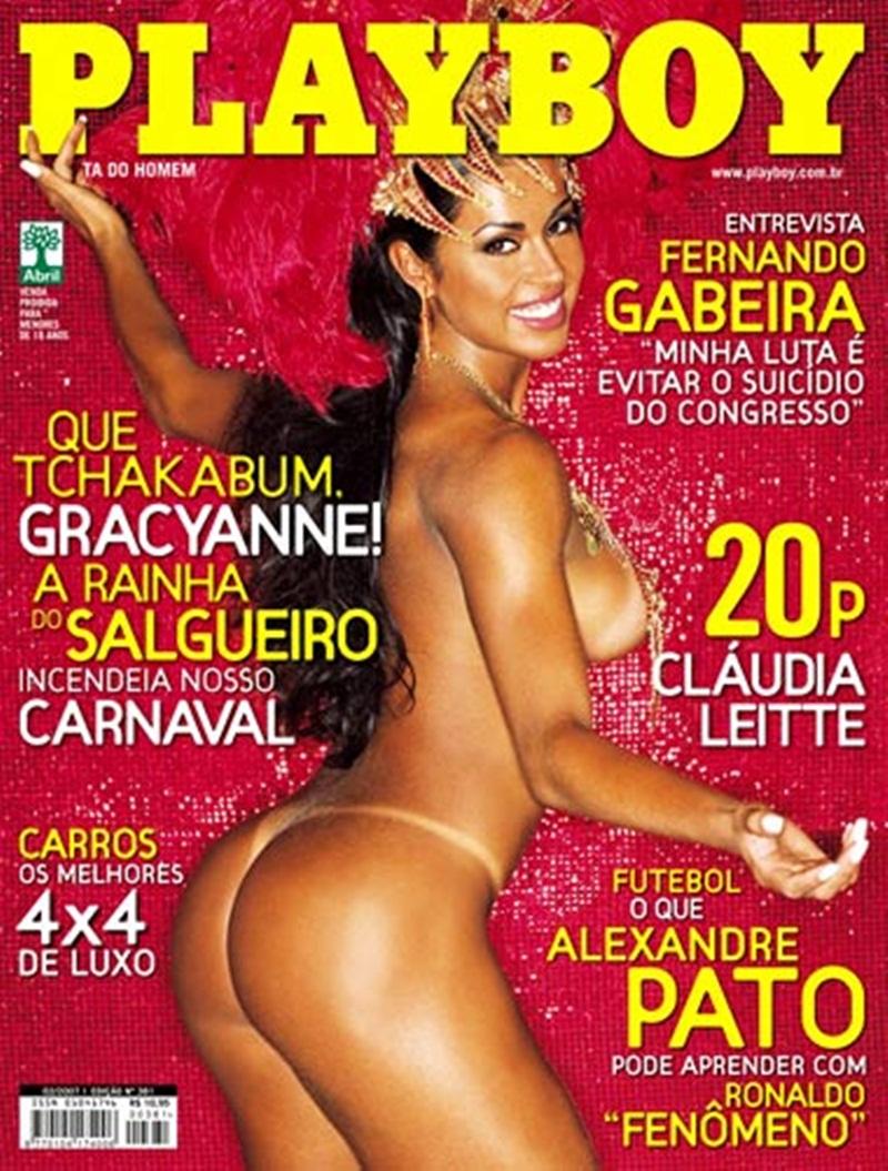 Playboy Gracyane Barbosa brasileira musa do carnaval pelada para a Playboy