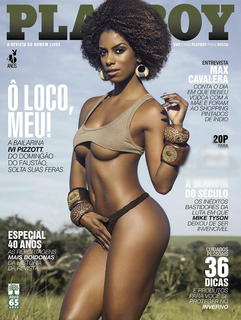 Playboy Ivi Pizzott negra gostosa peladinha bem delicia em ensaio da Playboy