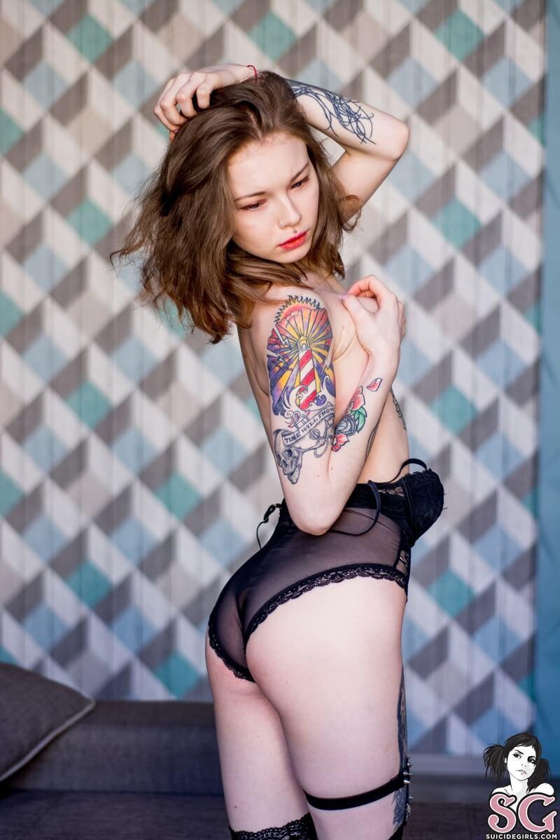 Ninfetinha gostosa de lingerie bem safada com tesão delicia