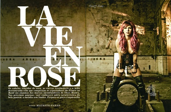 Thaís Bianca na Playboy - Fotos + Making of