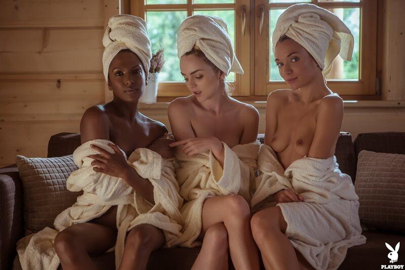 Zhenya, Nirmala and Kate três gostosas sensuais e safadas com tesão peladinhas bem de